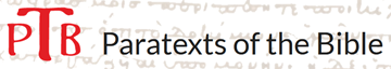 PTB Paratexts of the Bible